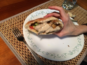 Ready to eat - delicious chicken shewarma